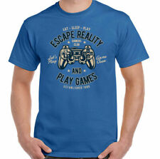 Gaming T-Shirt Escape Reality & Play Games Mens Funny PS4 Xbox PC Controller