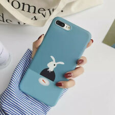 Phone Case For Iphone 6 6S 7 8 Plus X Cartoon Funny Cute Rabbit Soft IMD Cover