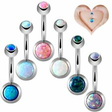 Hot Stainless Steel Gemstone Belly Button Ring Bar Body Piercing Jewelry Beauty