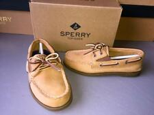 SPERRY TOP SIDER BOYS Original SLIP--ON Boat Shoe-SAHARA TAN~CB50670-SIZE 10.5M.