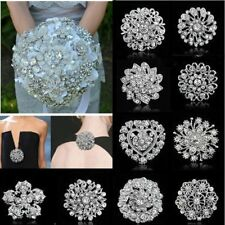 Vintage Wedding Bridal Bouquet Flower Rhinestone Crystal Brooch Pin Jewelry Gift