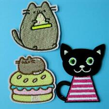 3 Patch Mouse Iron on Cat Embroidered Applique Animal Baby Motif Sew Cheese Lots