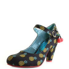 Poetic Licence By Irregular Choice Right Stripes Black Yellow Shoes Heel UK Size