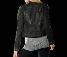 Sinful Womens DARE Denim Jacket S NWT NEW Wings Jeans Studs Black Affliction