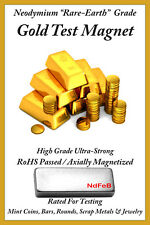 GOLD & SILVER Precious Metal Recovery Testing Magnets (STRONGEST Grade N52)