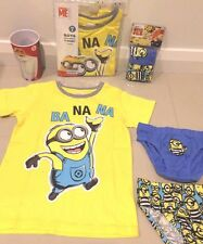 NEW DESPICABLE ME 3 Minions Licensed Tee top & 2 X UNDIES & CUP sz 4 FREE POST