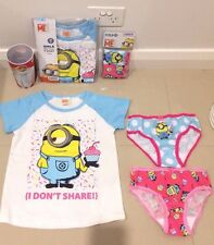 NEW DESPICABLE ME 3 Minions Licensed Tee top & 2 X UNDIES & CUP sz 3 5 FREE POST