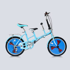 20'' Folding Tandem Bikes Bicycle 2Seater Bike 3 Speed Kids Baby Parents Bicycle