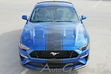 2018 Ford Mustang Center Hood Racing Stripes HYPER RALLY Decals Vinyl Graphic 3M