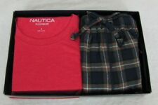Nautica pajama set mens 2 piece short sleeve tee and flannel pants sizes S L NEW