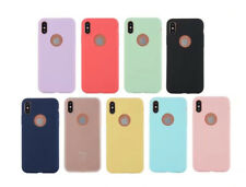Ultra Thin Fashion TPU Soft New Phone Case For iphone X Lovely Solid Candy Color