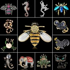 Women Cute Crystal Rhinestone Butterfly Bee Dragonfly Brooch Pin Spring Jewelry
