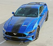 2018 Ford Mustang Center HYPER RALLY Hood Racing Stripes Decals Vinyl Graphic 3M