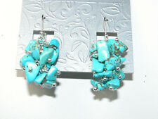 AMY KAHN RUSSELL Turquoise Cluster Sterling Silver Fish Hook ONLY Earring