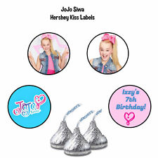 108 JoJo Siwa Birthday Party Favors Hershey Kiss Labels Stickers