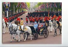 er0020 - Queen & Duke of Edinburgh return from Trooping the Colour - postcard