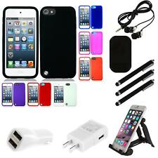 For Apple iPod Touch 5th Gen Silicone Case Gel Rubber Slim Grippy Skin Combo