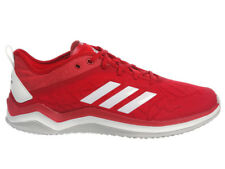 NEW MENS ADIDAS SPEED TRAINER 4 RUNNING SHOES TRAINERS RED / WHITE