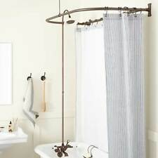 British Shower Conversion Kit with Porcelain Shower Head and D Style Shower Ring