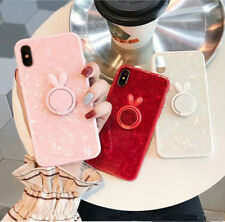 Bright Shell Soft Edge IMD Phone Case with Ring Holder for iphone 6 6s 7 8Plus X