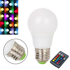 LED Light Bulb RGB Dimmable E27 3W 6W 8W 10W 12W Color Changing Lamp 110V 220V