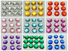500 Acrylic Flatback Faceted Round Rhinestone Gems 16mm No Hole Color for Choice