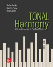 Tonal Harmony: With an Introduction to Post-Tonal Music by Stefan Kostka Hardcov