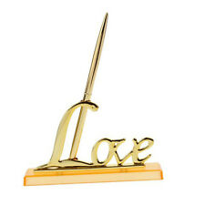 Silver Plated Signing Pen with Metal Love Holder Wedding Pen Set for Engagement