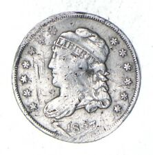 Rare - 1837 Capped Bust Half Dime - Tough to Find - US Early Silver Coin *371