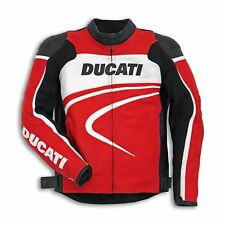 % Sale % Ducati 9810283 Corse Leather Jacket Motorcycle Sport Racing C2 Red
