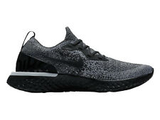 Womens Nike Epic React Flyknit Running Shoes Trainers Black/Black/White