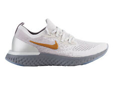 Womens Nike Epic React Flyknit Running Shoes Trainers Vast Grey/Mtlc Gold/Mtlc
