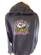 NEW Mens NFL Majestic Kansas City Chiefs Grey Screen Printed Pullover Hoodie