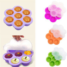 7 Holes Egg Bites Mold Silicone Instant Baby Food Accessories Fit Reusable