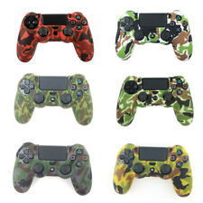 Camouflage silicone gel rubber soft skin grip cover case for ps4 controller EC
