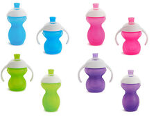Baby Cup Drinking Click Lock Chew Proof Trainer Sippy Anti Spill Munchkin 6m+