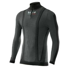 SixS TS13W Warm Mens Long Sleeve Zip Under Shirt Black Carbon