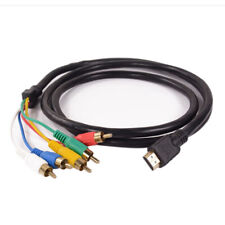 NEW HDMI to 5 RCA Male Audio Video 5FT Cable Cord Adapter for TV HDTV DVD LOT EC