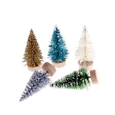 12pcs DIY Christmas Tree Small Pine Trees Xmas Party Desktop Decor Kids Gifts HU