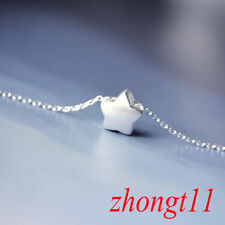 925 Silver Lovely Little Star Pendant Charm Chain Necklace Women Jewelry Gift