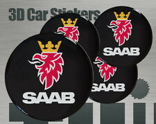 Wheel stickers Saab Center Cap Logo Badge Wheel Trims Rims Decal 3d Hub Caps