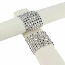 Diamond Napkin Rings 10Pcs For Wedding Napkin Holder Rhinestone Chair Decoration