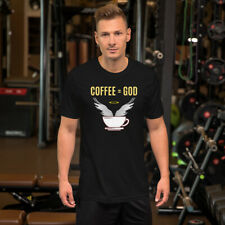 'Coffee = God' Black Short-Sleeve Unisex T-Shirt for caffeine worshippers