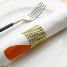 50 Pcs Diamond Chair Band Banquet DIY Craft Napkin Ring Shiny for Dining Table