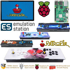 New ES Retropie Game Console Raspberry Pi 3 Model B+ Arcade 128GB 18000+ Games