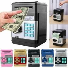 Electronic Piggy Bank ATM Password Cash Coin Money Auto Saving Safe Box Toy Gift