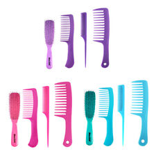 4Pc Salon Hair Styling Comb Set Barbers Hairdressing Brush Heat-resistant