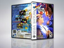 Street Fighter Alpha 2 - Saturn - Replacement Case / Cover - (NO GAME)