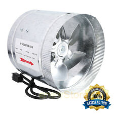"""4"""" 6"""" 8"""" Booster Fan Inline Blower Exhaust Ducting Cooling Vent HPS Hydroponic"""