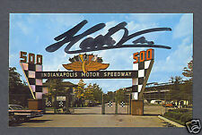 Helio Castroneves signed Indy 500 color postcard